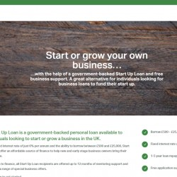 The Start Up Loans Company homepage