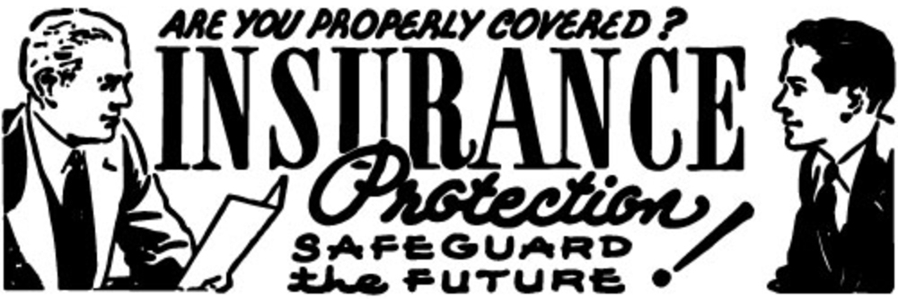 Insurance Protection - Safeguard The Future - Retro Ad Art Banner