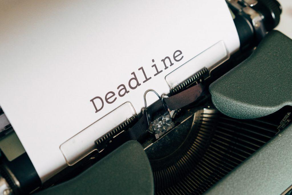 Type-writer-deadline